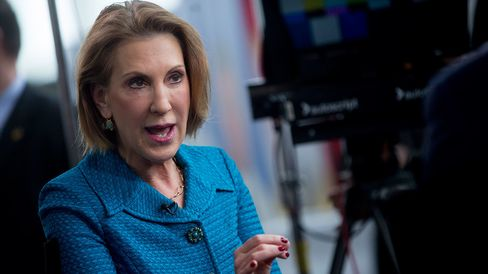 Carly Fiorina, former chairman and chief executive officer of Hewlett-Packard Co., is enjoying a bounce after her latest poll performance.