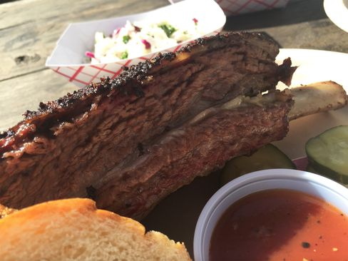 Micklethwait's barbecue ribs.
