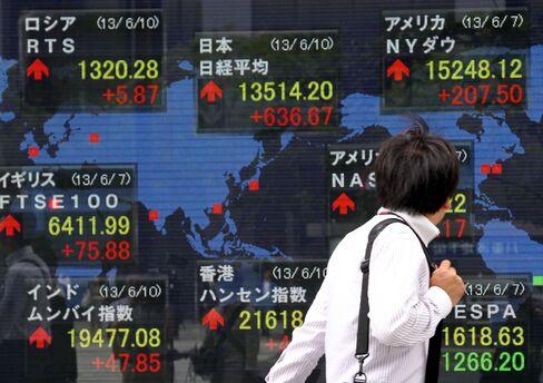 Asian Stocks Extend Rally; SoftBank Advances on Offer for Sprint