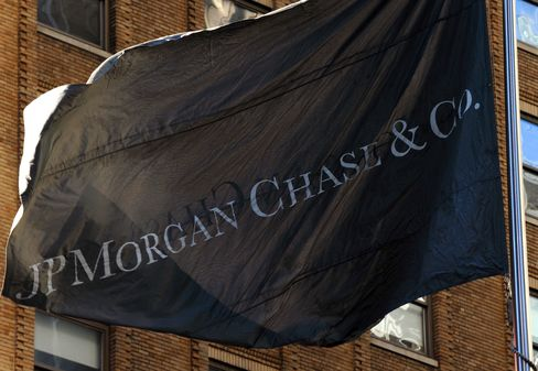A Flag Flies Outside JPMorgan Chase & Co. Offices in New York