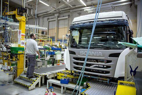 The Scania Truck Plant In Sodertalje, Sweden