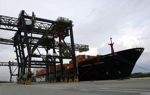 Cargo Ship at Port Everglades