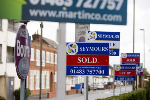 Estate Agents' For Sale Boards As No Letup In Property-Price Inflation