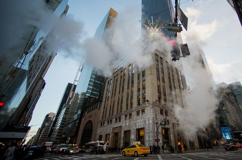 Cars Drive Past a Tiffany & Co. Store in New York