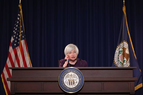 WASHINGTON, DC - JUNE 17:  Federal Reserve Bank Chair Janet Yellen holds a news conference following a meeting of the the Federal Open Market Committee at the Fed June 17, 2015 in Washington, DC. The FOMC, the policy-making arm of the Federal Reserve, decided to hold interest rates at zero and gave no information about when it might raise rates for the first time in nine years.  (Photo by Chip Somodevilla/Getty Images)
