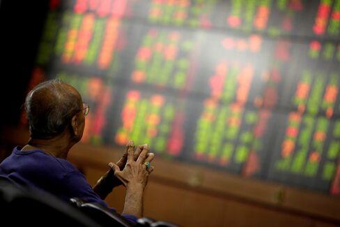 Stock Board in Bangkok
