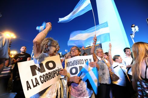 Argentines Protest Against Prices, Fernandez Re-Election Bid