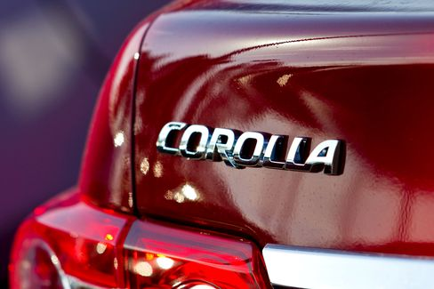 Toyota Says Corolla Topped Ford Focus in 2012 Global Sales