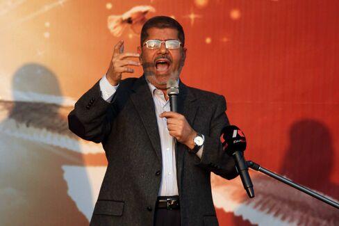 Egyptian President Mohamed Mursi