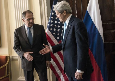 John Kerry and Sergey Lavrov in London
