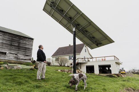 Solar panel linked to a Tesla Powerwall.