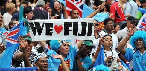 Fiji Win Sevens 26-19 as Hong Kong's Annual Party Draws to Close