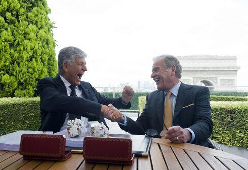 Publicis CEO Maurice Levy & Omnicom CEO John Wren