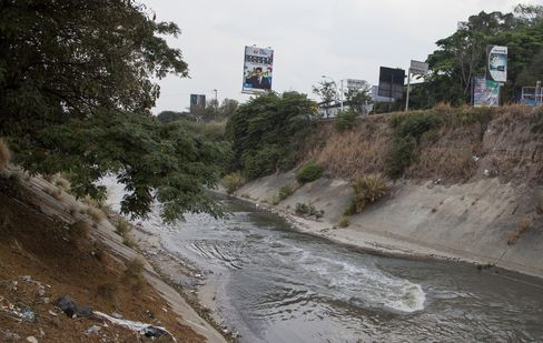 The Guaire river in Caracas, on April 16, 2016.