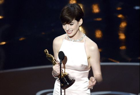 Anne Hathaway Wins Supporting Oscar for Role in 'Les Miserables'