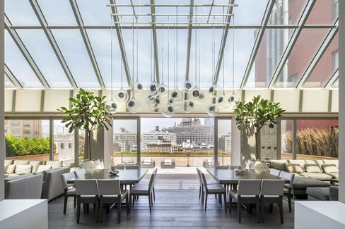 The dining and living area of Deron Williams's Manhattan condo. The three-time NBA All-Star and point guard for the Dallas Mavericks has listed it for $35 million.