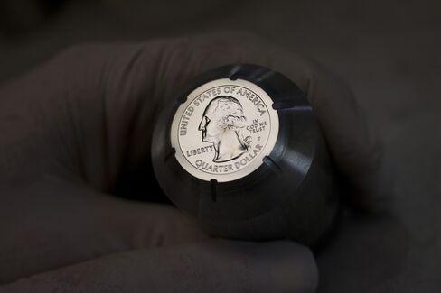 A Hub Used to Create a U.S. Quarter Dollar at the U.S. Mint