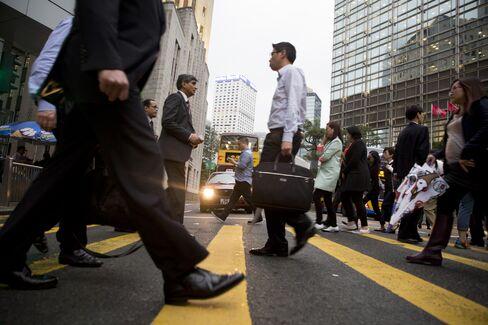 Pedestrians in Central