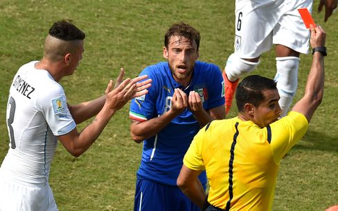 Red Card Given at World Cup