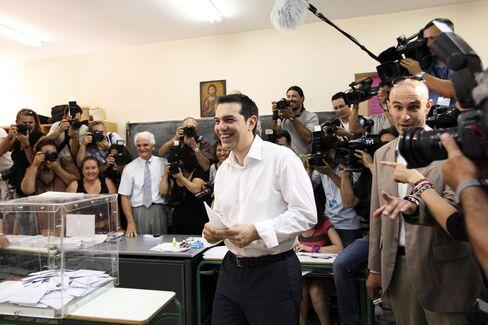 Leader of Greece's Syriza Party Alexis Tsipras