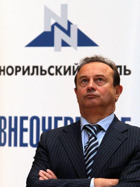 OAO GMK Norilsk Nickel CEO Vladimir Strzhalkovsky