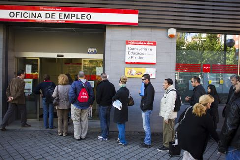 Spanish Unemployment Rises to Highest in Democratic History