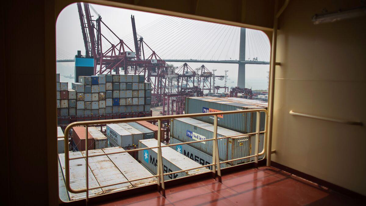 Maersk Triple E Ship Arrives In Hong Kong