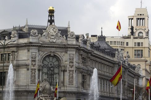Spain's Central Bank Stands in Madrid