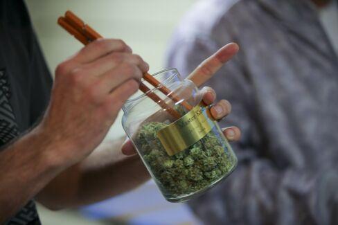 An Employee Pulls Marijuana for a Customer in Denver