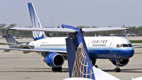 Continental and United Airlines