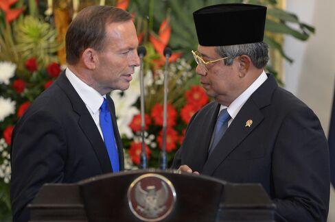 Australia's Tony Abbott & Indonesia's Susilo Bambang Yudhoyono