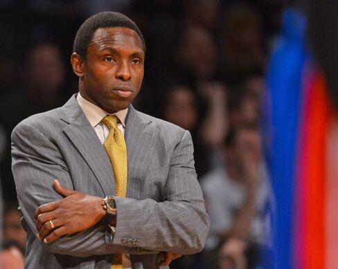 Head Coach Avery Johnson of the Brooklyn Nets