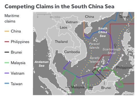 Bloomberg Visual Data: The Face Off in the South China Sea