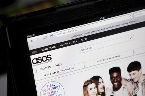 Asos Advances to Record After Sales Growth Beats Expectations