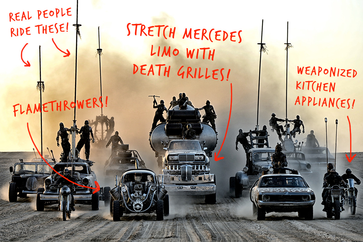 every killer car in mad max fury road explained bloomberg business. Black Bedroom Furniture Sets. Home Design Ideas