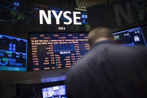 U.S. Stocks Drop on Budget Concern While Euro, Treasuries Gain