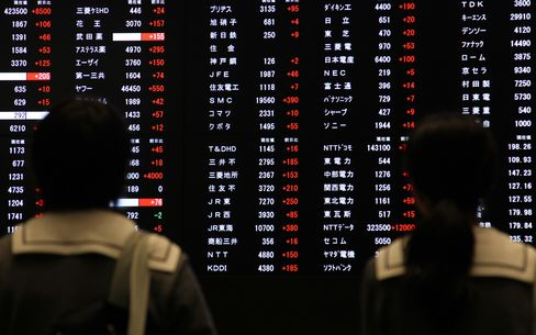 Japan Stocks Rise for Fourth Day on U.S. Manufacturing Data, Yen
