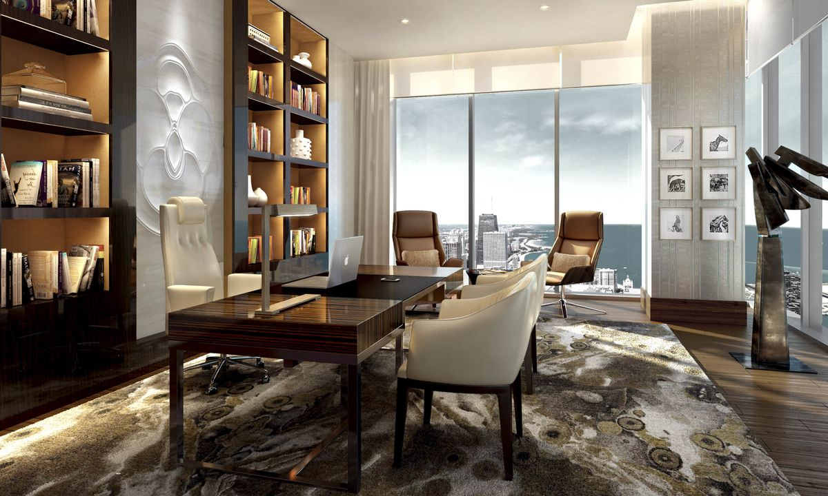The library of the penthouse