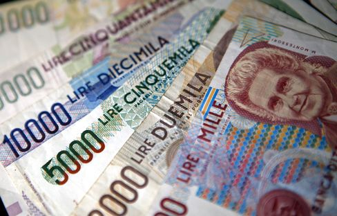 Lira Beats Mark as Europe Suffers From Stronger Euro