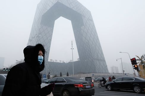 Toxic Smog in Beijing Seen Fueling GM to VW Sales in China