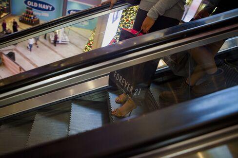 Shoppers inside a Mall in Escondido, California