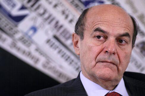 Italy's Democratic Party Leader Pier Luigi Bersani