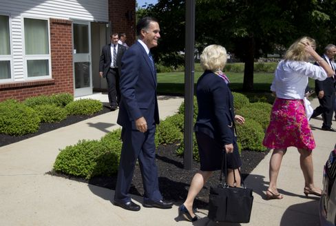 Romney Attends Mormon Services With Media Watching Worship
