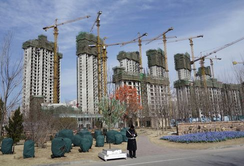 Huge construction site in Wuqing.  Wuqing, is a suburb