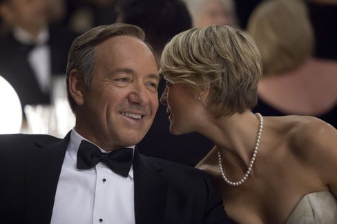 Actors Kevin Spacey & Robin Wright