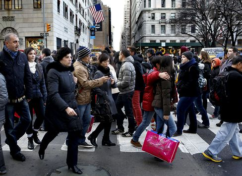 Sales at U.S. Retailers Rose More Than Forecast in December