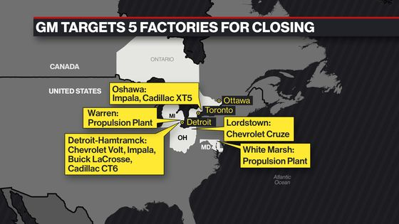 GM's Targeted Factories Span Decades and Political Borders