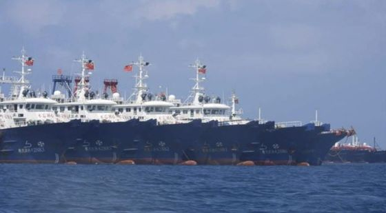 Chinese Vessels Swarm Reef, Drawing Philippine Protest