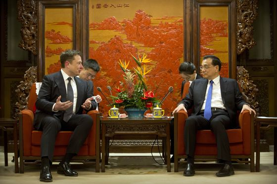 China Wants Elon Musk to Help Promote Stable Ties With the U.S.