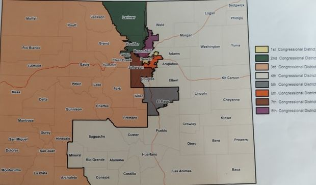Congressional District Chart from Colorado Independent Redistricting Commissions